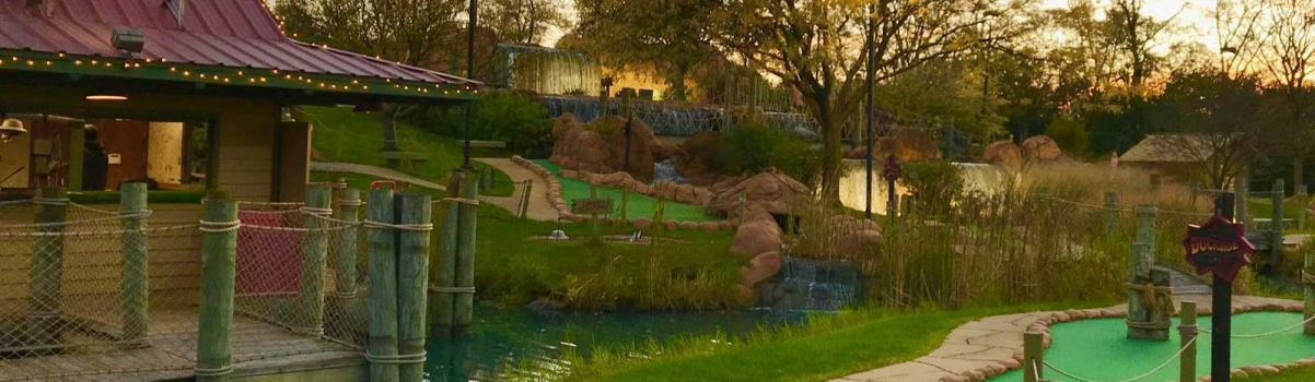 Follow Lost Mountain Adventure Golf!